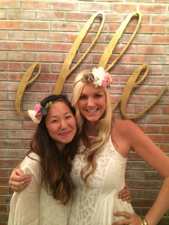 Krystel (from Couture Events and owner of Elle Bridal Boutique) and I just looking fabulous in our flower crowns!